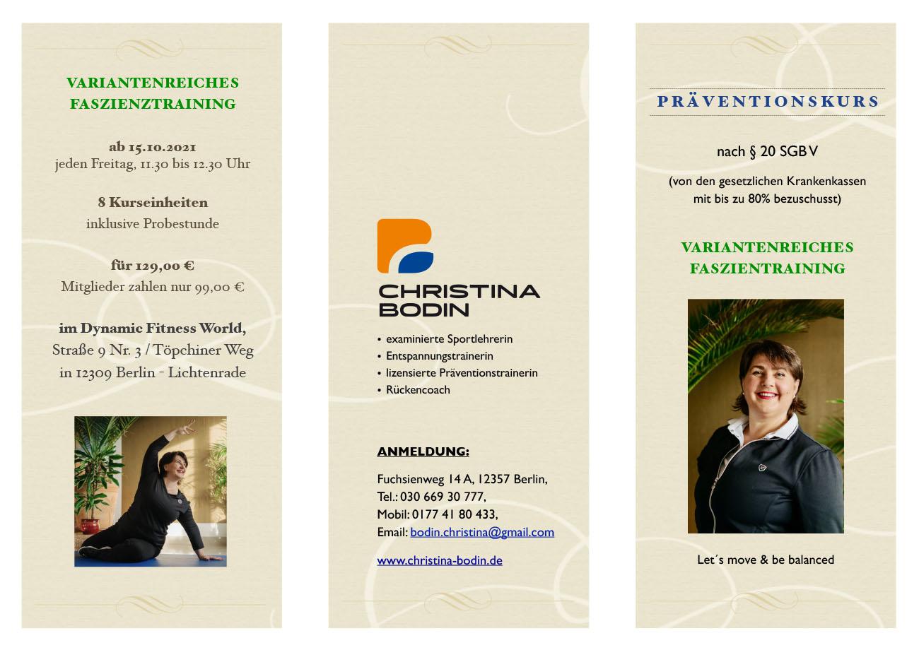 Christina Bodin - Präventionskurs VFT